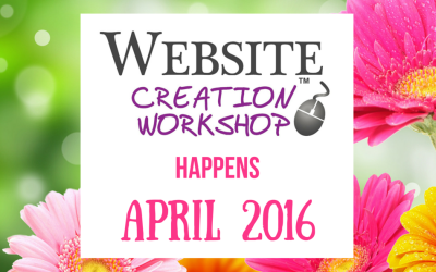 April, 2016 ~ Website Creation Workshop